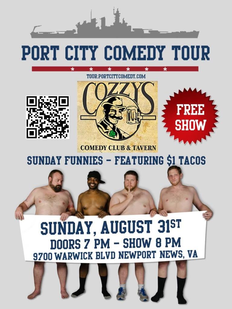 Port City Comedy Tour  @ Cozzy's Comedy Club   Newport News   Virginia   United States