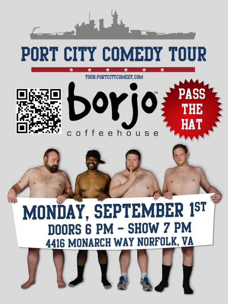Port City Comedy Tour @ Borjo Coffee House   Norfolk   Virginia   United States