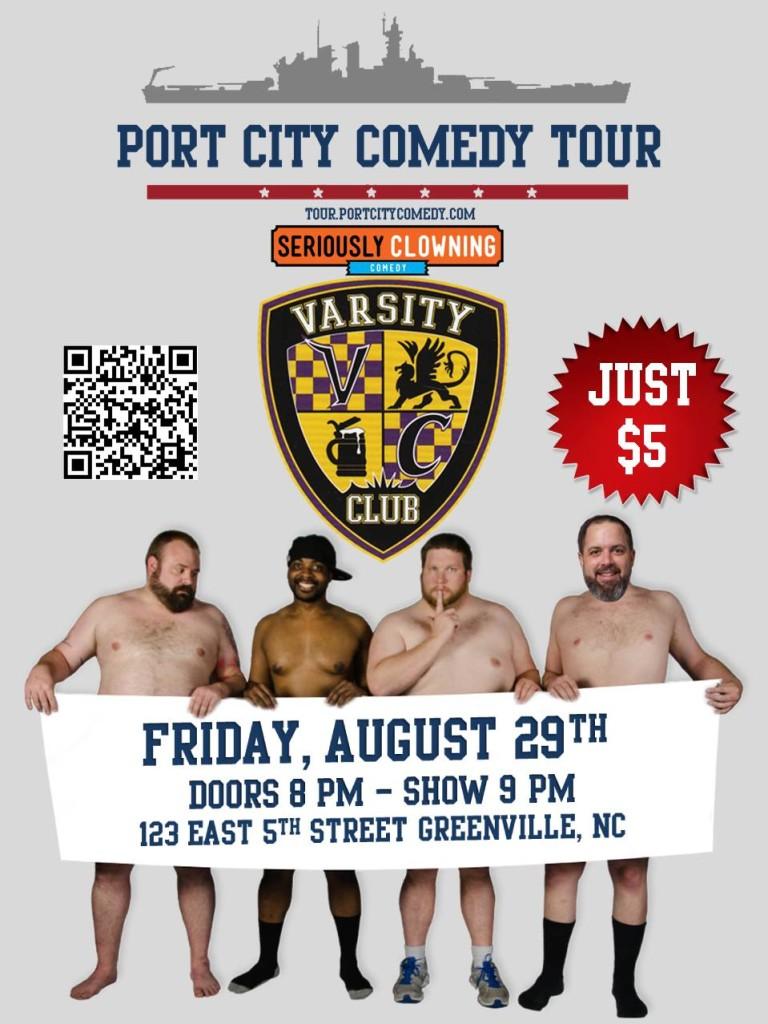 Port City Comedy Tour @ Varsity Club   Greenville   North Carolina   United States