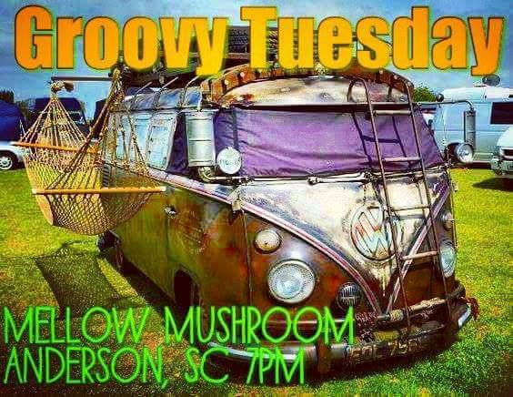 Groovy Tuesday at Anderson Mellow Mushroom @ Mellow Mushroom | Anderson | South Carolina | United States